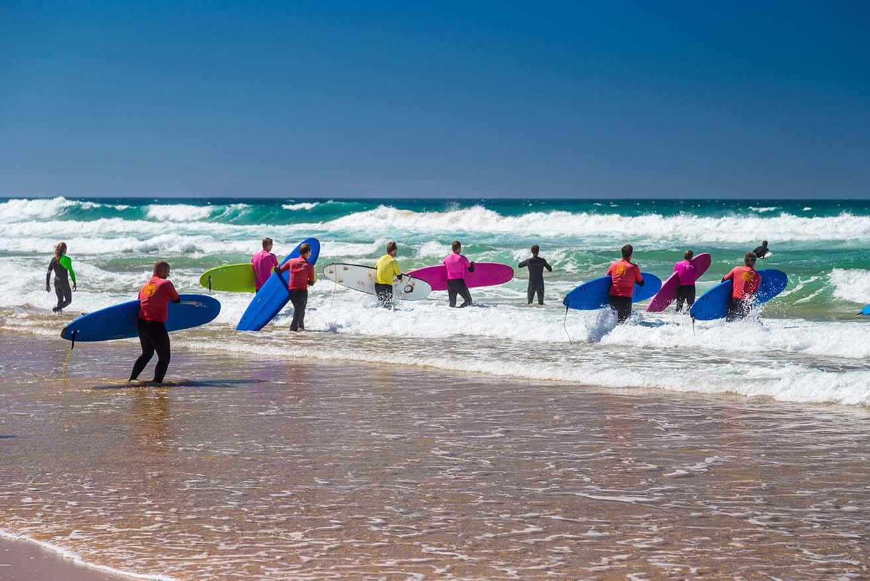 donde hacer surf cerca de Santiago de Compostela