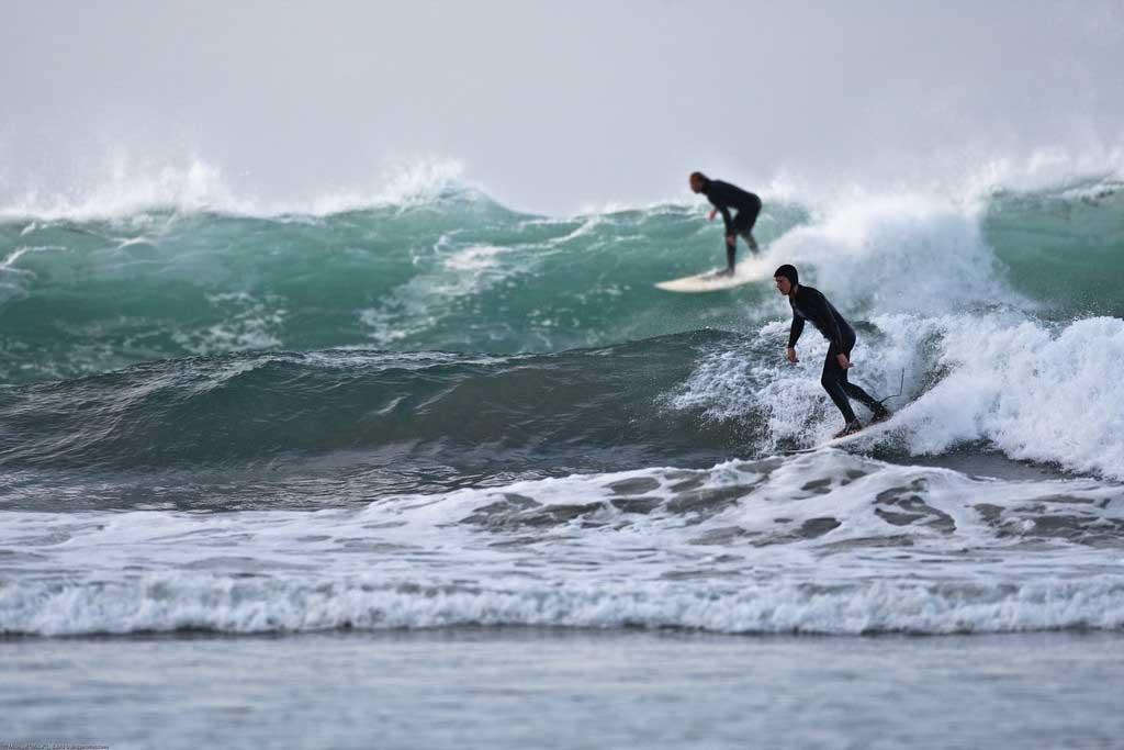 Surf en Galicia en invierno
