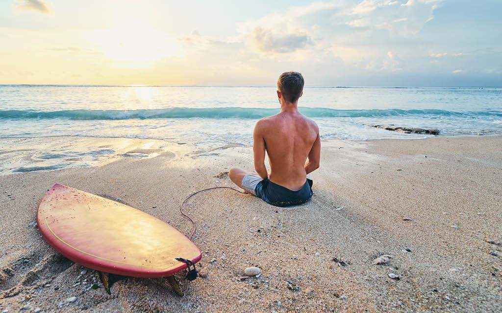 Beneficios del surf para la mente