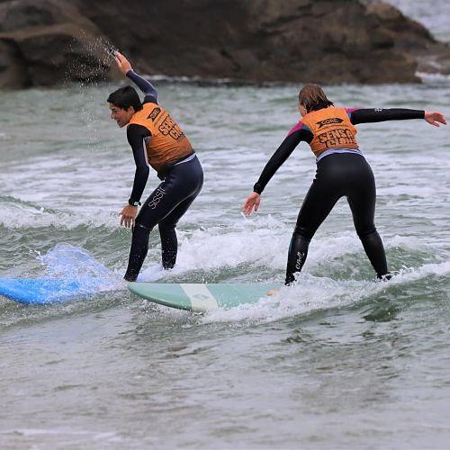 Cursos de surf por parejas en Lugo